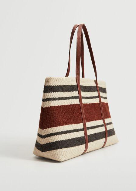 Mango - light beige Wool-blend shopper bag, Women