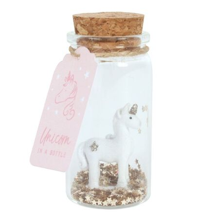 SOMETHING DIFFERENT - Something Different Glitter Unicorn In a Bottle Decoration