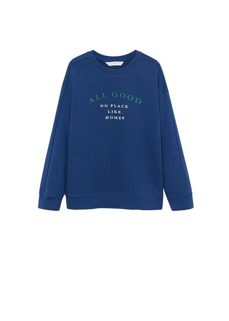 Mango - bright blue Printed organic cotton sweatshirt