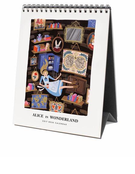 RIFLE PAPER CO. - Rifle Paper Co 2017 Alice In Wonderland Desktop Calendar