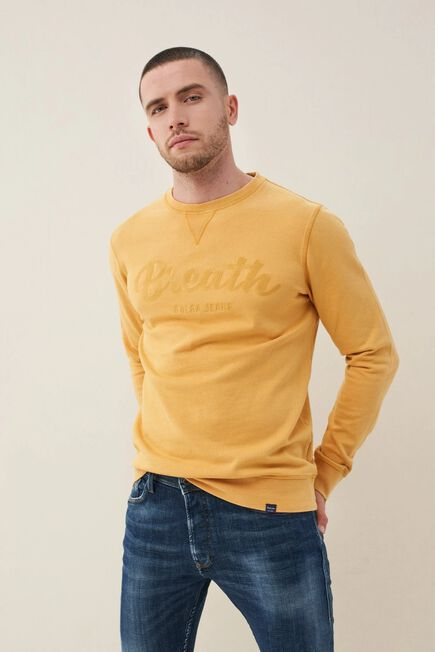 Salsa Jeans - Yellow Cotton sweater with print