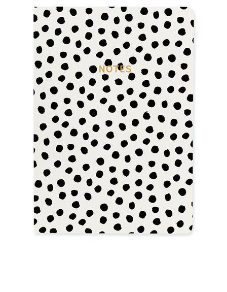 GO STATIONERY - Go Stationery Monochrome Painterly Dots A5 Notebook