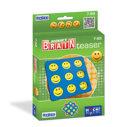 HUCH & FRIENDS - Bognar's Brain Teaser Smiles Green/Blue/Red Logical Toy