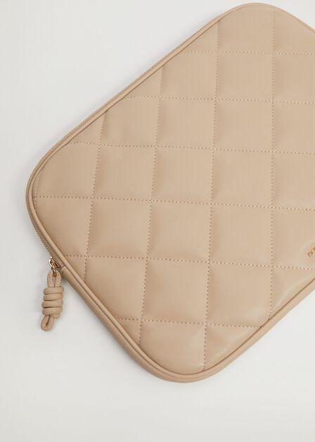 Mango - Lt pastel grey Padded laptop case
