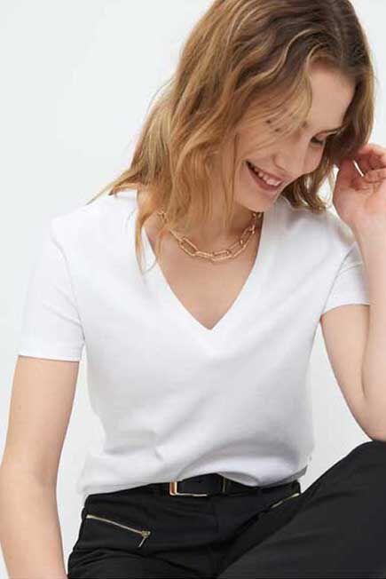 Mohito -  Plain Basic T-Shirt Eco Aware - White