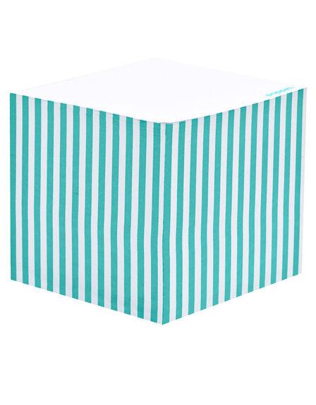 POPPIN INC - Poppin Inc Memo Cube Aqua Stripe
