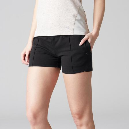 DOMYOS - Extra Large  520 Women's Stretching Shorts - Heathered, Black