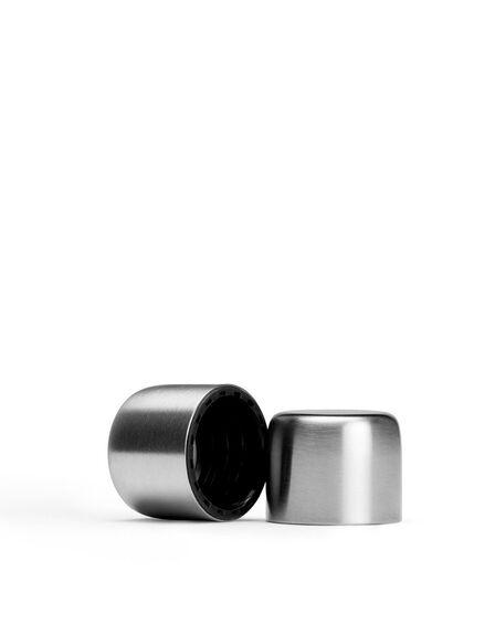 MEMOBOTTLE - Memobottle Lid Brushed Steel [For use with Memobottle Water Bottles.]