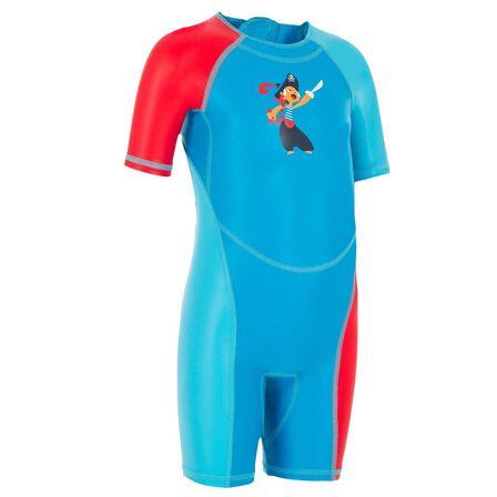 NABAIJI - 12M  Kloupi Baby's Printed Shorty Swimsuit - Blue, Cyan