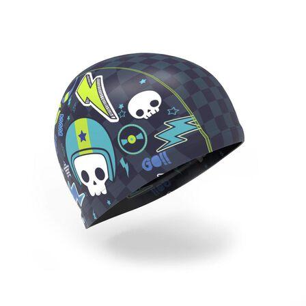 NABAIJI - S Silicone Mesh Swim Cap - Print Wozboy - Navy Blue