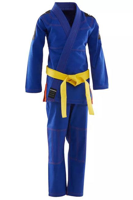 OUTSHOCK - 500 kids' brazilian jiu-jitsu uniform - blue