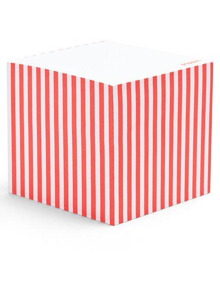 POPPIN INC - Poppin Inc Memo Cube Coral Stripe