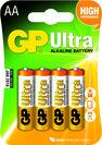 GP BATTERIES - GP Batteries Ultra Alkaline AA Single-Use Battery [4 Pack]