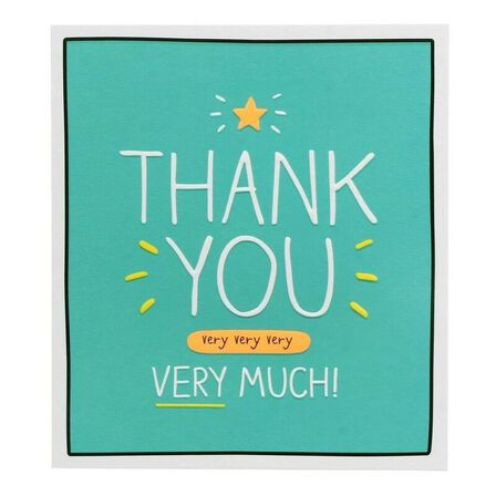 PIGMENT PRODUCTIONS - Happy Jackson Thank You Very Much 160X176 Greeting Card