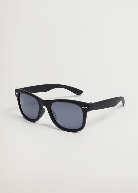 Mango - Black Squared Frame Sunglasses, Kids Boy