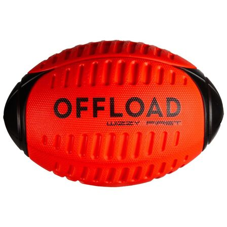 OFFLOAD - 3  Recreational Foam Rugby Ball Size 3 Wizzy R100 - Red, Red