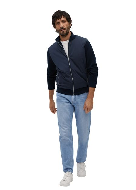 Mango - navy Quilted panel cardigan