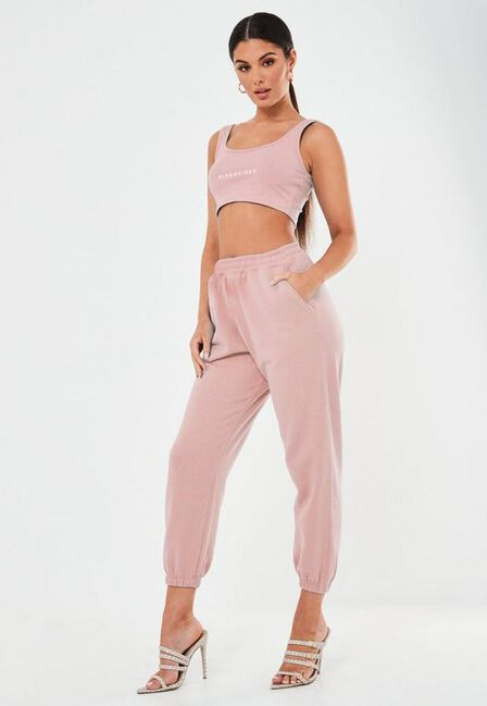 Missguided - Nude Oversized Joggers