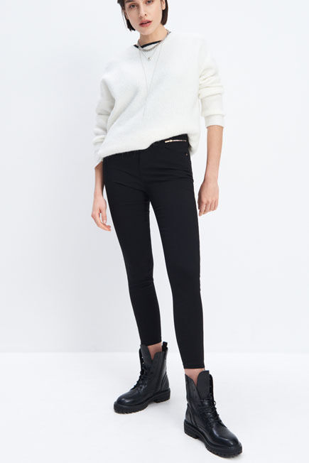 Mohito -  Skinny Fit Trousers - Black