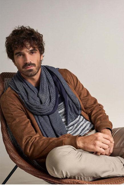 Salsa Jeans - Blue Microprint scarf