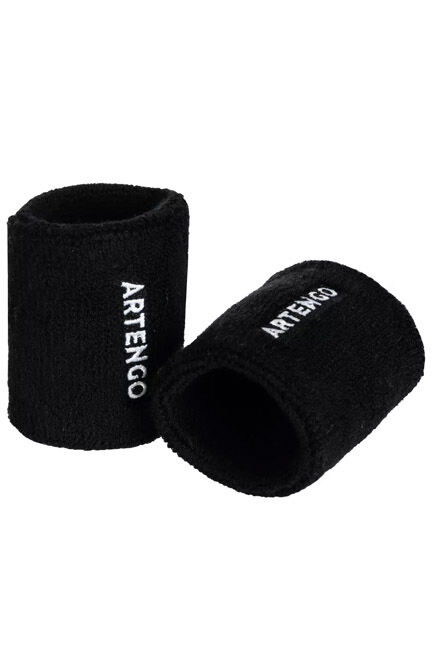 ARTENGO - TP 100 Tennis Wristband - Black, BLACK