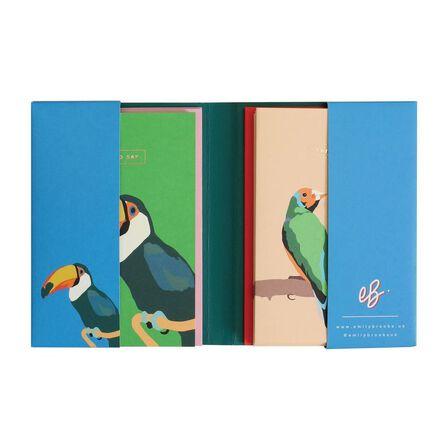 EMILY BROOKS - Emily Brooks Wallet Notecards Birds [Set of 10]