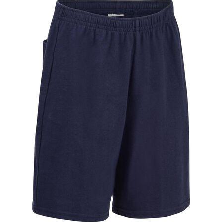 DOMYOS - 7-8Y  Boys' Gym Shorts 100 - Navy, Navy Blue