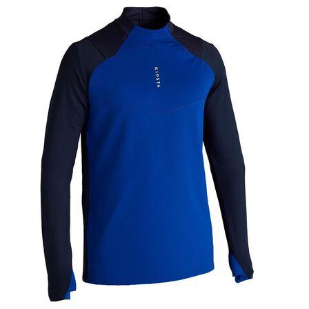 KIPSTA - Medium  T500 Adult 1/2 Zip Football Training Sweatshirt - Carbon, Navy Blue