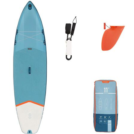 ITIWIT - Unique Size  BEGINNER INFLATABLE TOURING STAND-UP PADDLE BOARD 11 FEET, Blue