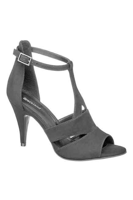 Graceland - Black Open Toes Heels, Women