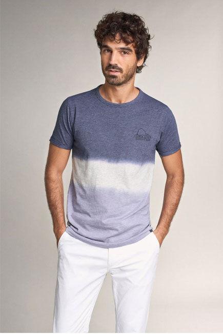 Salsa Jeans - Lilac Gradient T-Shirt In Cotton, Men