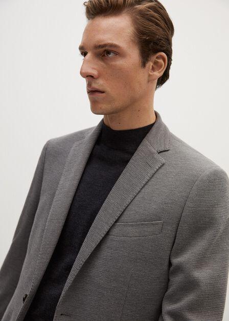 Mango - grey Structured textured blazer