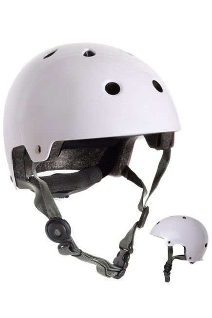 OXELO - Play 5 Inline Skating Skateboarding and Scootering Helmet - White, M
