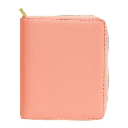 KIKKI.K - kikki.K Leather Personal Zip Planner Large Luxury Coral