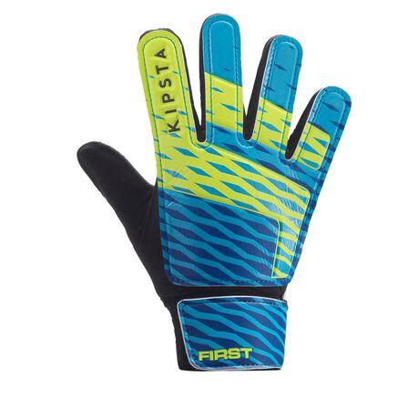 KIPSTA - 7  First Kids' Football Goalkeeper Gloves, Glacier Blue