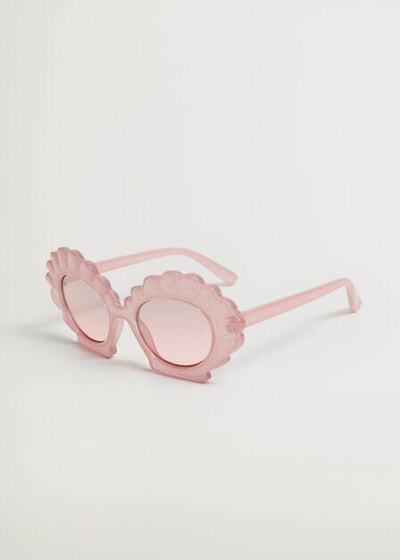 Mango - Lt-Pastel Pink Sunglasses With Shell-Frame, Kids Girl