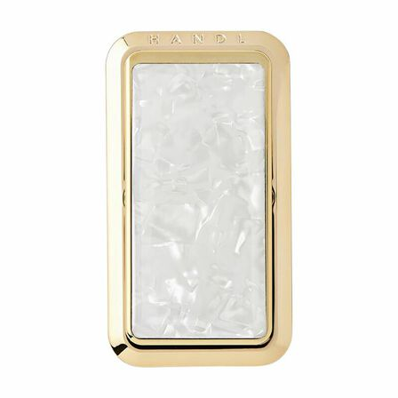 HANDL NEW YORK - Handl New York Marble Grip & Stand Mother of Pearl/Champagne for Smartphones
