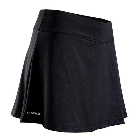 ARTENGO - 2XS  Women's Tennis Skirt SK Soft 500, Black
