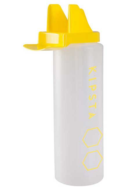 KIPSTA - Hygienic 1 Litre Water Bottle - White/Yellow, Unique Size