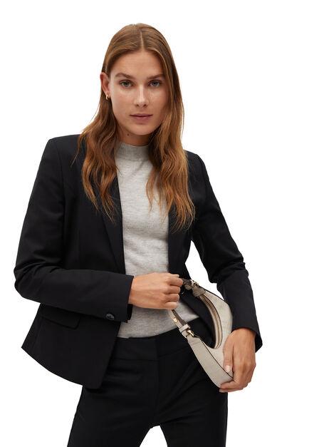 Mango - Black Structured Suit Blazer