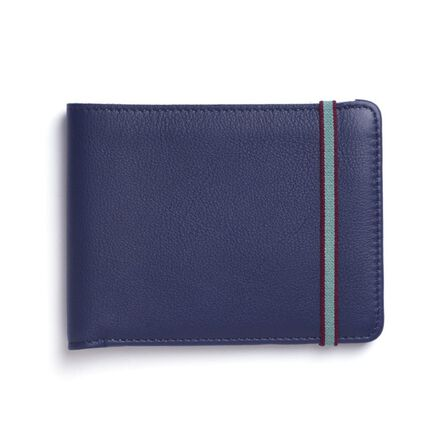 CARRE ROYAL - Carre Royal Portefeuille Porte-Carte En Cuir Leather Wallet Blue