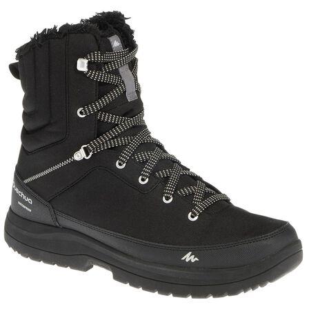 QUECHUA - Sh100 man black high hiking snow boots., EU 46