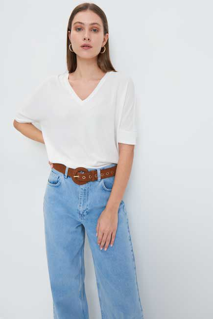 Mohito -  Knitted Blouse - White