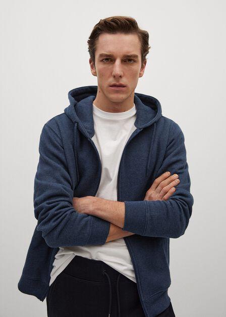 Mango - medium blue Zipper plush sweatshirt