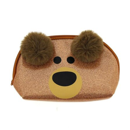 BLUEPRINT COLLECTIONS - Happy Zoo Brown Bear Dome Pencil Case