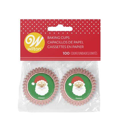 WILTON BRANDS INC. - Wilton Xmas Santa Claus Mini Baking Cups [100 Pack]