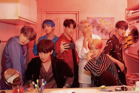 QUALIA - BTS Map Of Soul Persona Red Poster