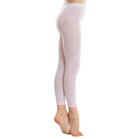 DOMYOS - 6-7Y Girls' Footless Ballet And Modern Dance Tights - Light Pink