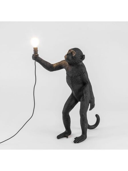 Seletti - Monkey Lamp Standing Black Outdoor