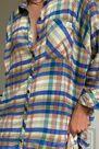 Urban Outfitters - Lime UO Ashley Lime Plaid Shirt Dress